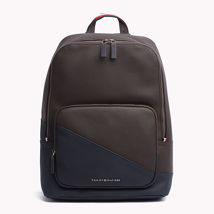 TOMMY HILFIGER Diagonal Backpack - BLACK - TOMMY HILFIGER Bags & Accessories - main image