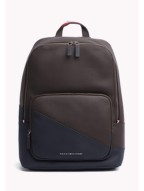 TOMMY HILFIGER Diagonal Backpack - COFFEE BEAN - TOMMY HILFIGER Bags - main image