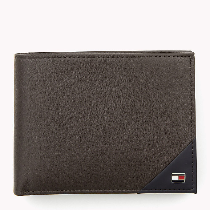 TOMMY HILFIGER Leather Wallet - BLACK - TOMMY HILFIGER Men - main image