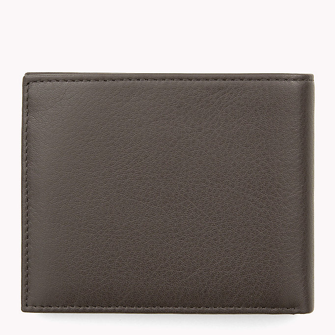 TOMMY HILFIGER Leather Mini Wallet - BLACK - TOMMY HILFIGER Men - detail image 1