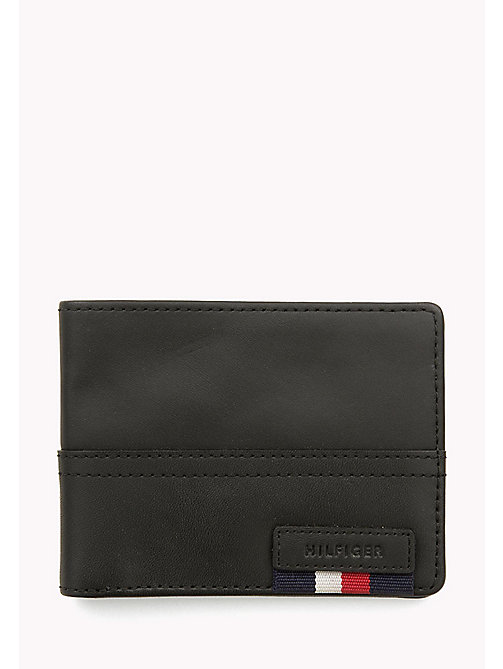 TOMMY HILFIGER Leather Mini Wallet - BLACK - TOMMY HILFIGER Wallets & Keyrings - main image