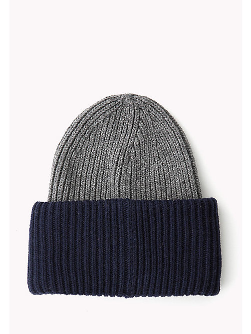 TOMMY HILFIGER Wool Blend Beanie - BLUES,RED&GREY MIX - TOMMY HILFIGER Bags & Accessories - detail image 1