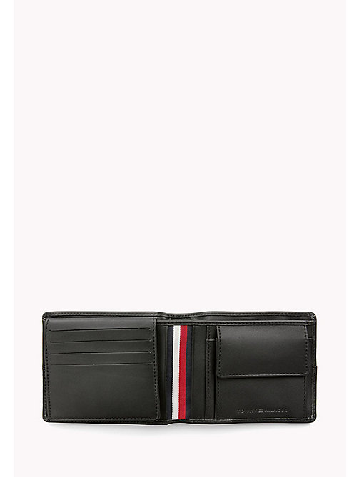 TOMMY HILFIGER Leather Trifold Flap Wallet - BLACK - TOMMY HILFIGER Bags & Accessories - detail image 1