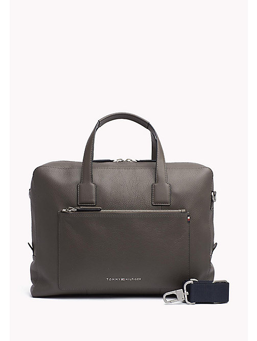 TOMMY HILFIGER Leather Computer Bag - GREY - TOMMY HILFIGER Bags & Accessories - main image