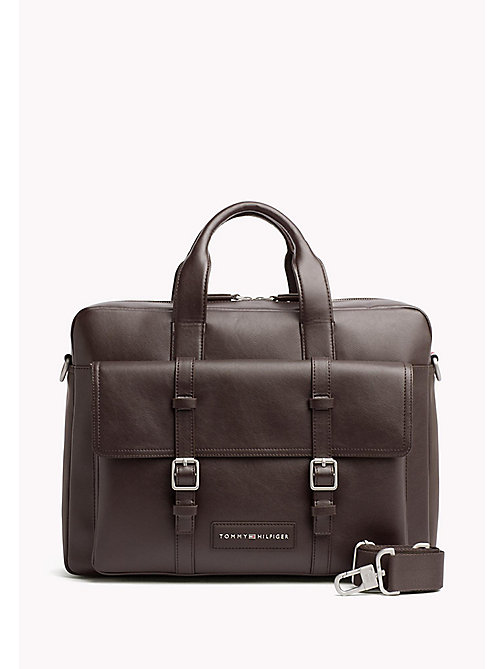 TOMMY HILFIGER Zipped Computer Bag - COFFEEBEAN - TOMMY HILFIGER Father's day - main image