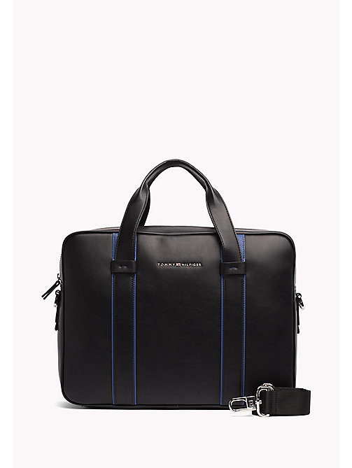TOMMY HILFIGER Minimalist Computer Bag - BLACK / SODALITE BLUE - TOMMY HILFIGER Bags & Accessories - main image