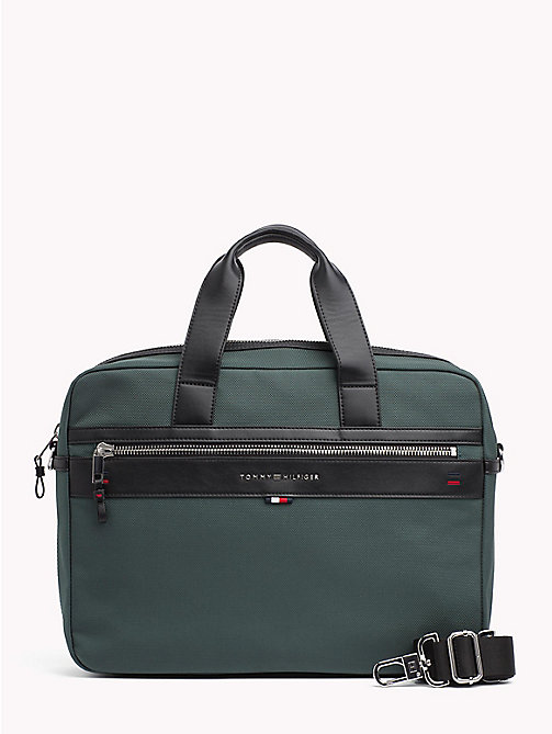 TOMMY HILFIGER Elevated Laptop Bag - RAIN FOREST - TOMMY HILFIGER Laptop Bags - main image