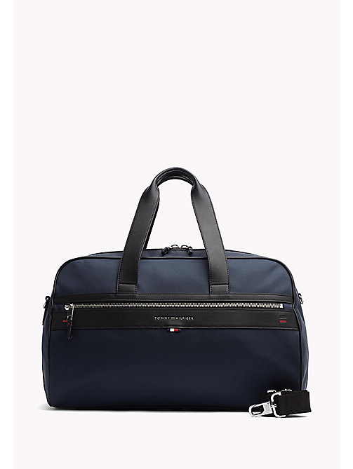 Leather Contrast Duffle Bag - TOMMY NAVY - TOMMY HILFIGER Bags & Accessories - main image
