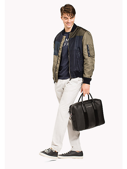 TOMMY HILFIGER Business-Laptop-Ledertasche - BLACK - TOMMY HILFIGER Test 4 - main image 1