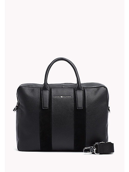 TOMMY HILFIGER Leather Business Laptop Bag - BLACK - TOMMY HILFIGER Test 4 - main image