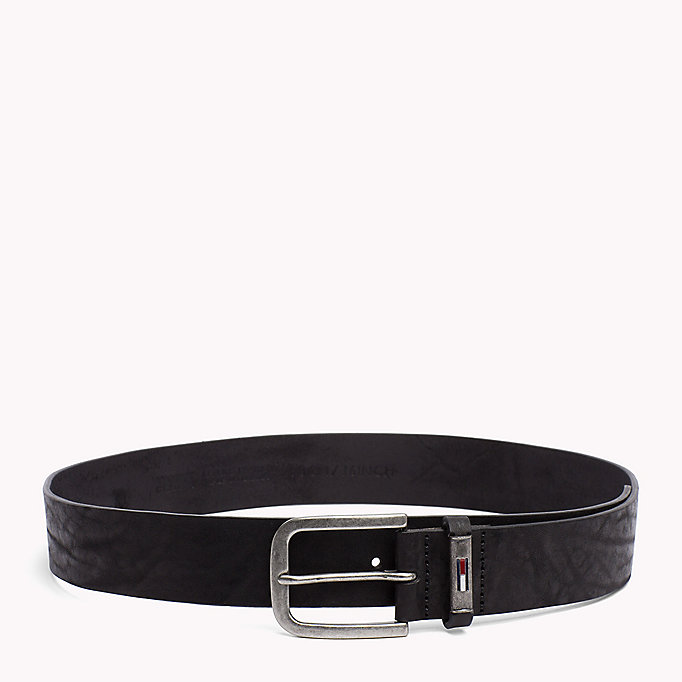 TOMMY JEANS Leather Belt - TESTA DI MORO - TOMMY JEANS Men - main image