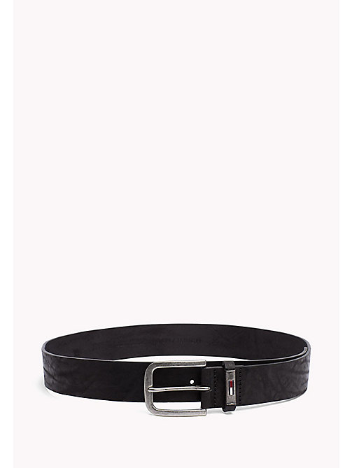 TOMMY JEANS Leather Belt - BLACK -  MEN - main image