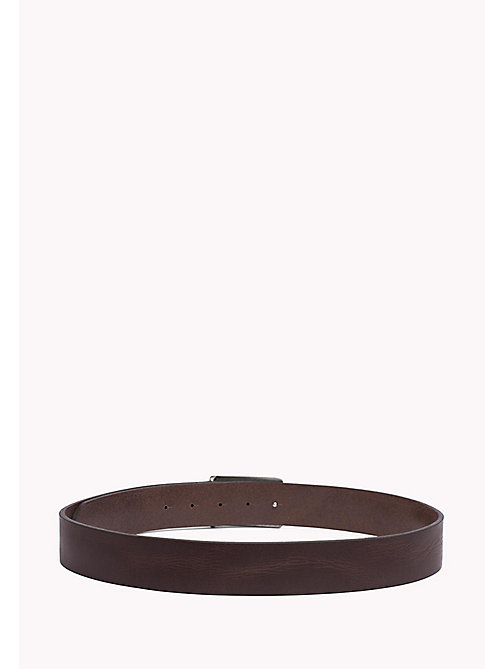 TOMMY JEANS Leather Belt - TESTA DI MORO - TOMMY JEANS MEN - detail image 1