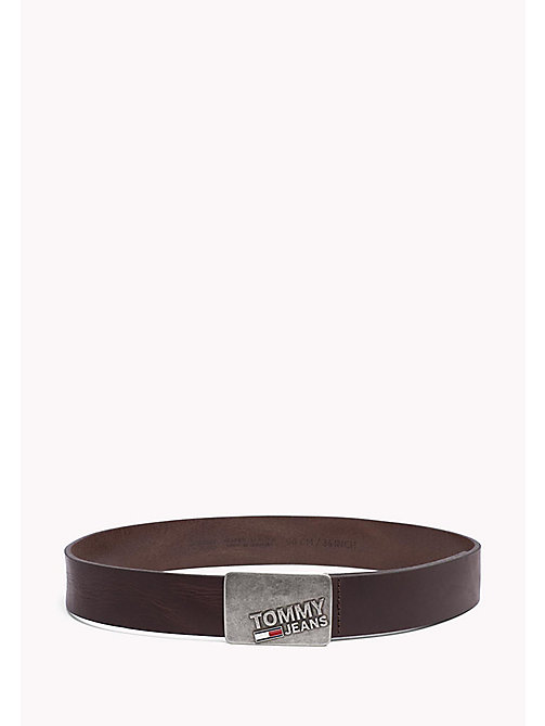 TOMMY JEANS Leather Belt - TESTA DI MORO - TOMMY JEANS Tommy Jeans Accessories - main image