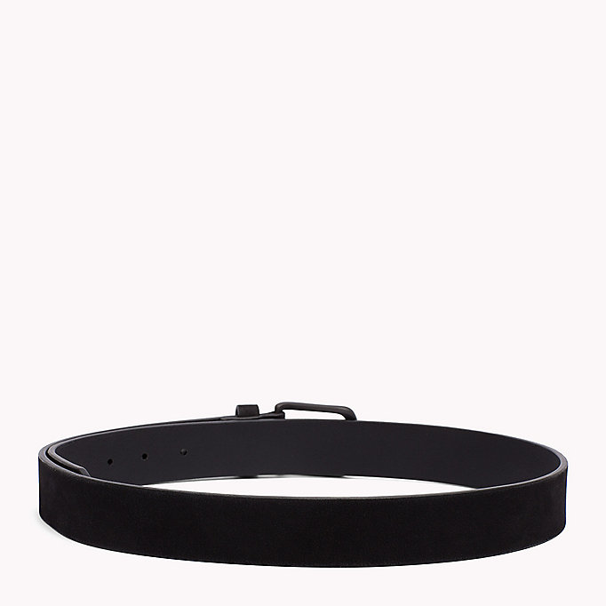 TOMMY HILFIGER Nubuck Leather Belt - TESTA DI MORO - TOMMY HILFIGER Men - detail image 1