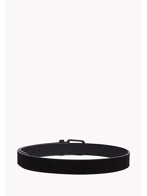 TOMMY HILFIGER Nubuck Leather Belt - BLACK - TOMMY HILFIGER Belts - detail image 1