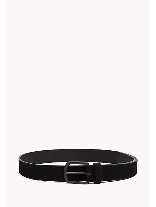 TOMMY HILFIGER Nubuck Leather Belt - BLACK -  Belts - main image