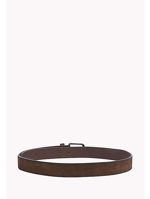 TOMMY HILFIGER Nubuck Leather Belt - TESTA DI MORO -  Belts - detail image 1