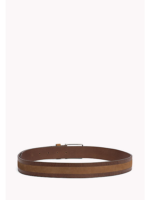 TOMMY HILFIGER 2-Tone Leather Belt - COGNAC - TOMMY HILFIGER Belts - detail image 1