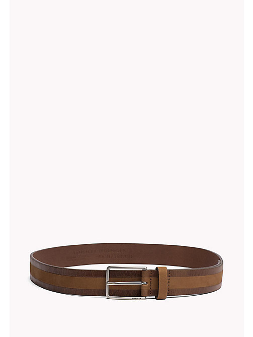 TOMMY HILFIGER 2-Tone Leather Belt - COGNAC - TOMMY HILFIGER Belts - main image