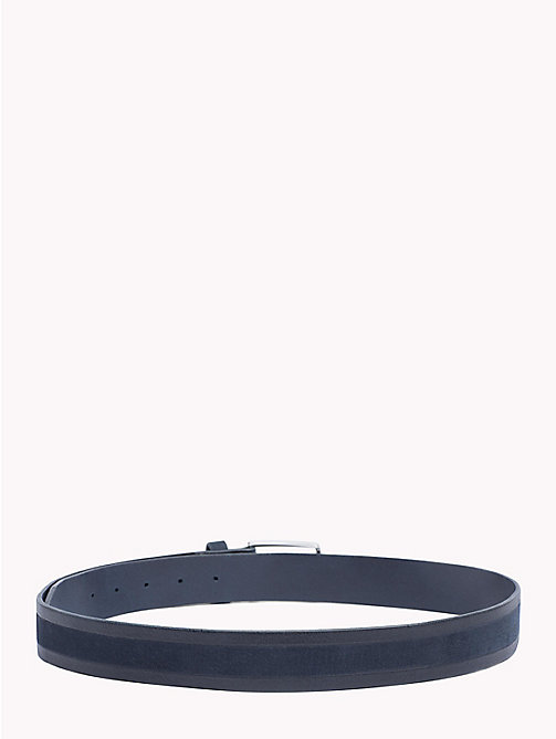 TOMMY HILFIGER 2-Tone Leather Belt - TOMMY NAVY - TOMMY HILFIGER Belts - detail image 1