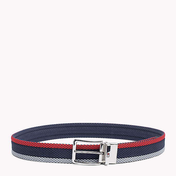 TOMMY HILFIGER 2-Tone Leather Belt - COGNAC - TOMMY HILFIGER Men - detail image 2