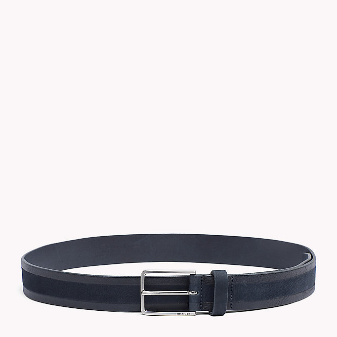 TOMMY HILFIGER 2-Tone Leather Belt - COGNAC - TOMMY HILFIGER Men - main image