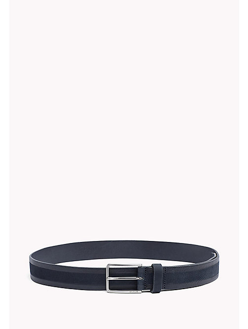 TOMMY HILFIGER 2-Tone Leather Belt - TOMMY NAVY - TOMMY HILFIGER Belts - main image