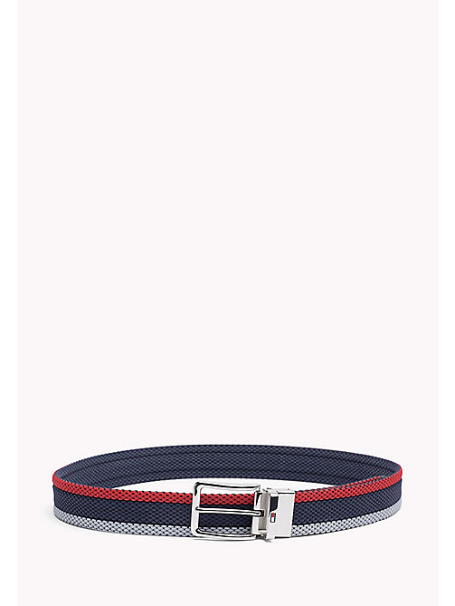 TOMMY HILFIGER Reversible Braided Belt - CORPORATE CLRS & NAVY - TOMMY HILFIGER Belts - main image
