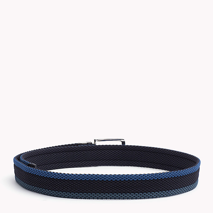TOMMY HILFIGER Reversible Braided Belt - CORPORATE CLRS & NAVY - TOMMY HILFIGER Bags & Accessories - detail image 1