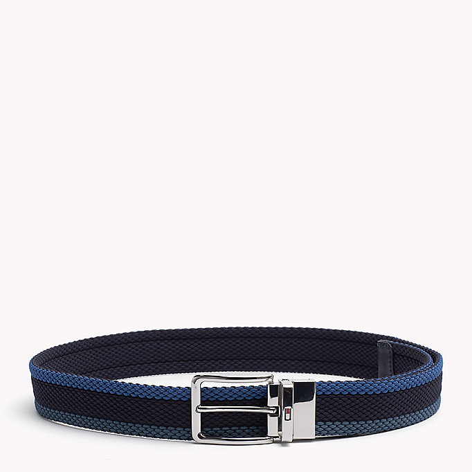 TOMMY HILFIGER Reversible Braided Belt - CORPORATE CLRS & NAVY - TOMMY HILFIGER Bags & Accessories - main image