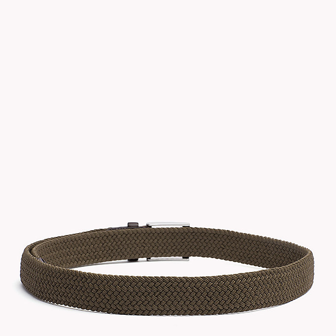 TOMMY HILFIGER Braided Belt - GREY MELANGE - TOMMY HILFIGER Men - detail image 1