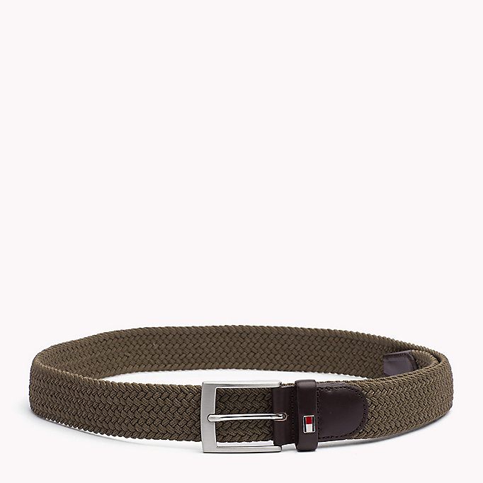 TOMMY HILFIGER Braided Belt - GREY MELANGE - TOMMY HILFIGER Men - main image