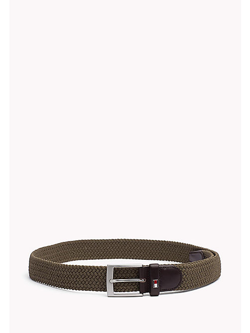 TOMMY HILFIGER Braided Belt - KHAKI - TOMMY HILFIGER Belts - main image