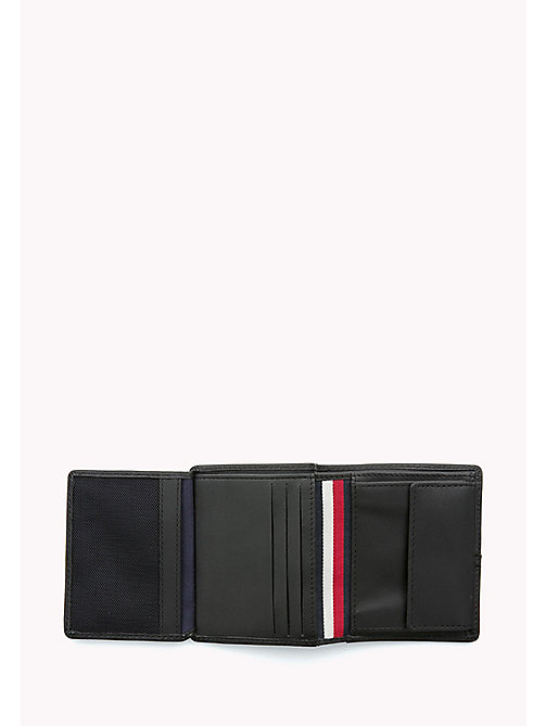TOMMY HILFIGER Leather Trifold Wallet - BLACK - TOMMY HILFIGER Wallets & Keyrings - detail image 1