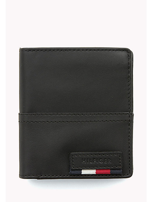 TOMMY HILFIGER Leather Trifold Wallet - BLACK - TOMMY HILFIGER Wallets & Keyrings - main image
