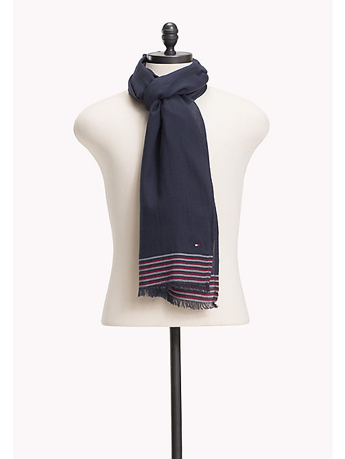 TOMMY HILFIGER Mini Stripe Scarf - SKY CAPTAIN - TOMMY HILFIGER Scarves - main image