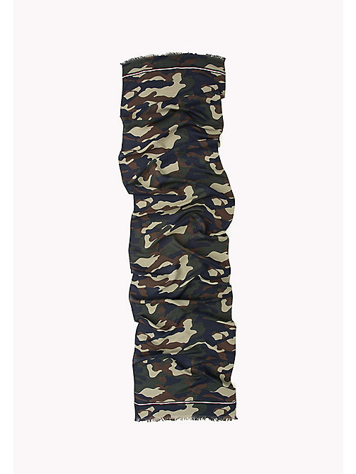 TOMMY HILFIGER Camo Scarf - MILITARY MIX - TOMMY HILFIGER Hats, Gloves &  Scarves - detail image 1