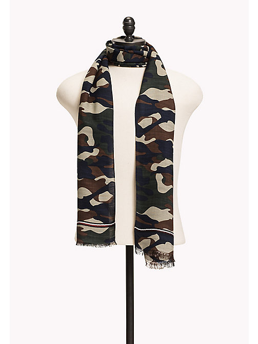 TOMMY HILFIGER Camo Scarf - MILITARY MIX - TOMMY HILFIGER Hats & Scarves - main image