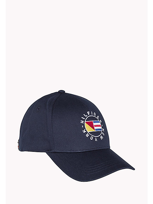 TOMMY HILFIGER Cotton Twill Flag Cap - SKY CAPTAIN - TOMMY HILFIGER Hats & Scarves - main image