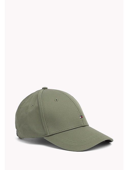 TOMMY HILFIGER Cotton Twill Baseball Cap - FOUR LEAF CLOVER - TOMMY HILFIGER Accessories - main image