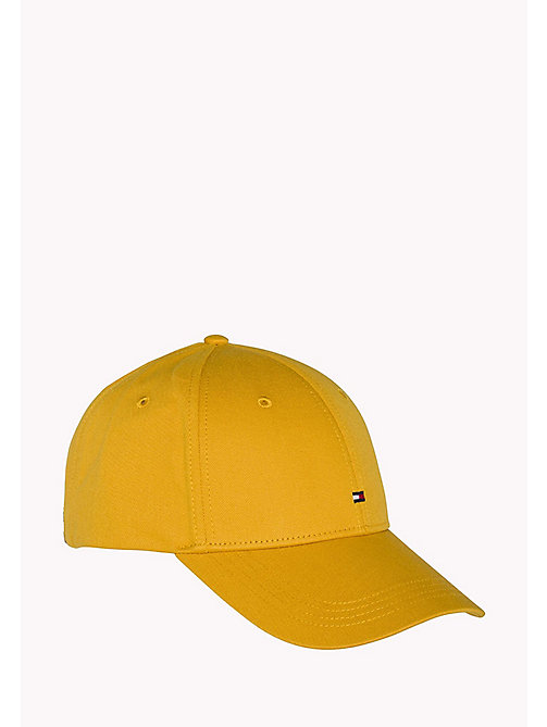 TOMMY HILFIGER Cotton Twill Baseball Cap - GOLDEN YELLOW - TOMMY HILFIGER Accessories - main image