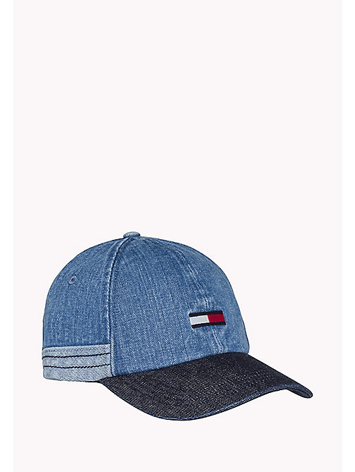TOMMY JEANS Denim Baseball Cap - DENIM - TOMMY JEANS Hats, Gloves &  Scarves - main image