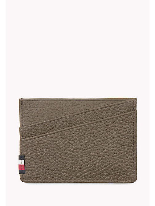 TOMMY HILFIGER SOFT LEATHER CC HOLDER - GREY - TOMMY HILFIGER Bags & Accessories - detail image 1