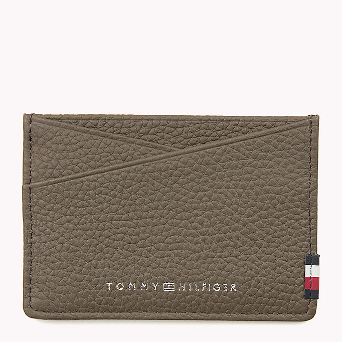 TOMMY HILFIGER SOFT LEATHER CC HOLDER - BLACK - TOMMY HILFIGER Bags & Accessories - main image