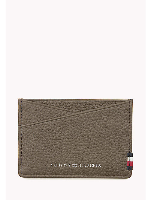 TOMMY HILFIGER SOFT LEATHER CC HOLDER - GREY - TOMMY HILFIGER Bags & Accessories - main image