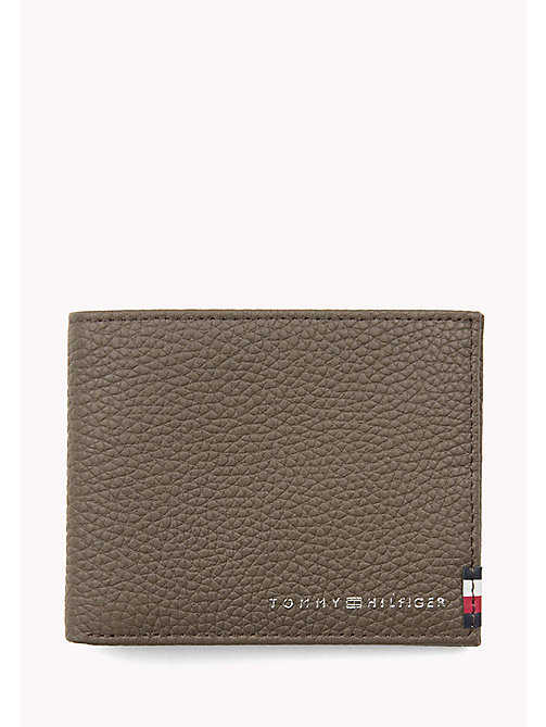 TOMMY HILFIGER Leather Mini Wallet - GREY - TOMMY HILFIGER Wallets & Keyrings - main image