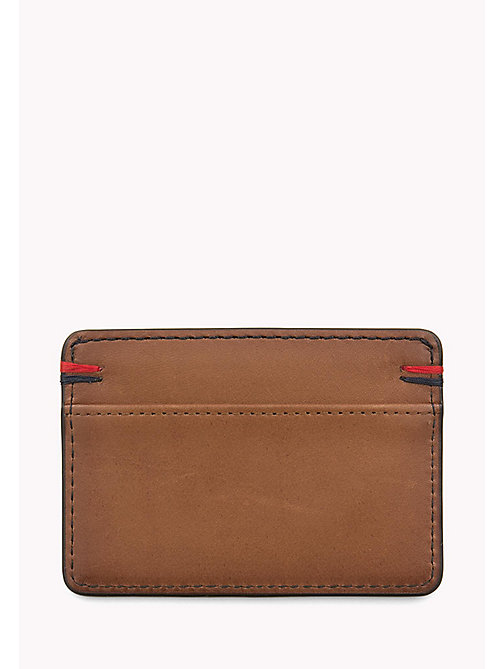 TOMMY HILFIGER Burnished Leather Cardholder - COGNAC - TOMMY HILFIGER Bags & Accessories - detail image 1