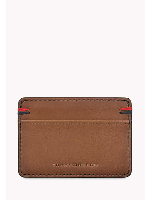 TOMMY HILFIGER Burnished Leather Cardholder - COGNAC - TOMMY HILFIGER Bags & Accessories - main image