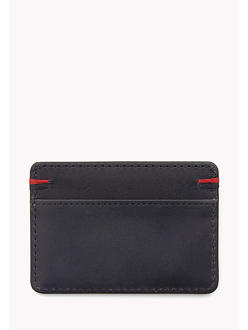 TOMMY HILFIGER Burnished Leather Cardholder - TOMMY NAVY - TOMMY HILFIGER Bags & Accessories - detail image 1